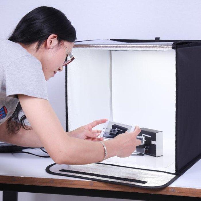 LED小型攝影棚補光燈套裝迷你產品拍攝拍照燈箱柔光箱簡易攝影道具