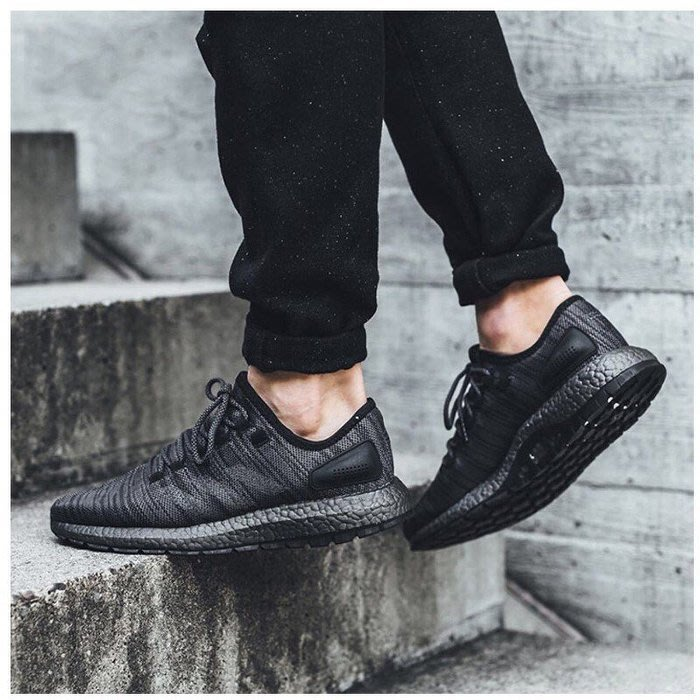 0b5c024cf1171 P.S 》Adidas Pure Boost Triple Black 全黑編織慢跑鞋男鞋BB6288 ...