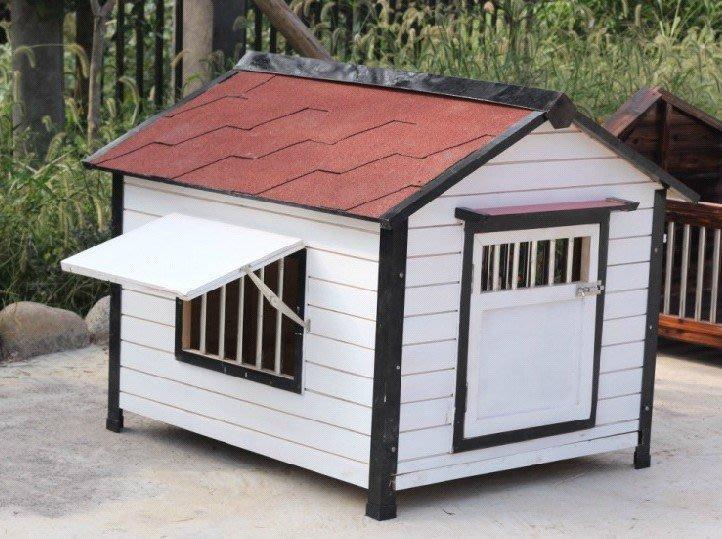 狗窩狗屋狗房子大狗金毛不銹鋼底板大型犬戶外防水實木制狗舍
