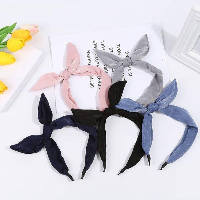 [靚妞兒小舖]甜美氣質兔耳打結布藝髮窟髮圈髮帶髮繩 韓系飾品~全館599免運~