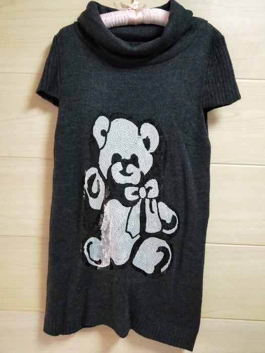 丹丹衣坊--精工亮片泰迪熊毛衣洋裝