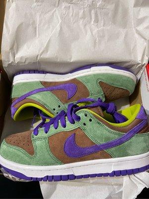 "現貨 女鞋 23.5cm NIKE DUNK LOW SP ""VENEER"" 棕綠 醜小鴨 DA1469-200"