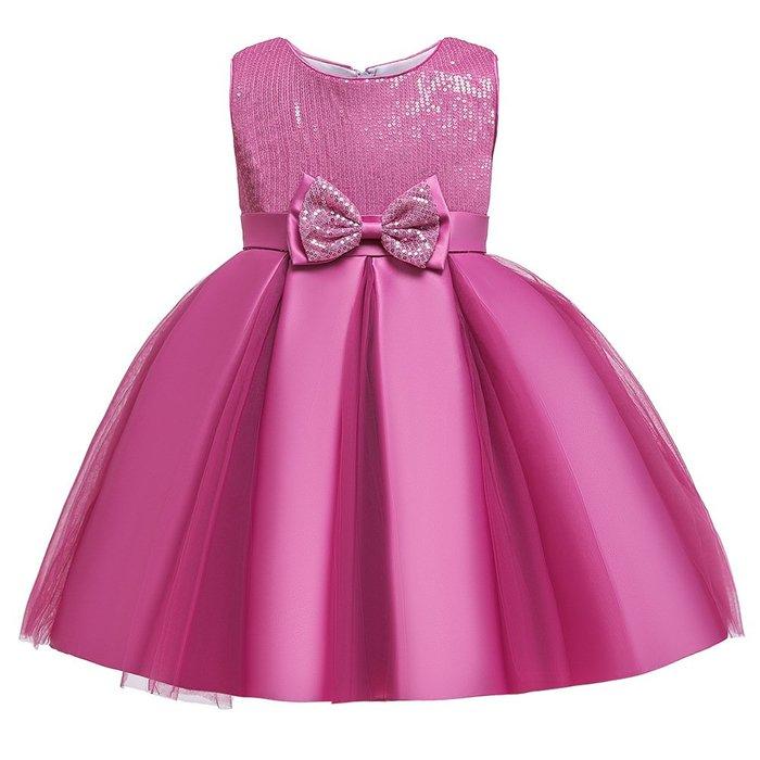 •*~ 辣媽咪衣飾小舖 ~*•❤童裝系列❤K970492韓版大童夏款甜美清新時尚蓬蓬蕾絲亮片可愛公主禮服公主洋裝
