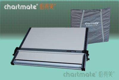 chartmate 恰得美 製圖桌:378DM-90T 攜帶式製圖板/軌道平行儀 A1 60*90cm