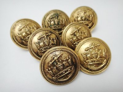 【timekeeper】 百年歲月英國製J.R. Gaunt & Son Ltd海軍服鈕扣,七個一標(免運)