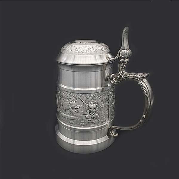 5Cgo【茗道】含稅會員有優惠 41354831305 泰國進口錫器茶杯高檔錫杯錫制茶杯帶蓋商務工藝禮品喝茶杯養生杯