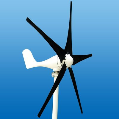 現貨 新能源 400W 12V/24V S型風機 5葉片小型家用風力發電機 路燈 房車 輪船 漁船 農田 省電 清潔っ頌茗坊