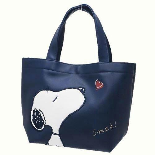 ☆橘子貓的918号店☆ 日本 限量  snoopy 史努比 皮質 手提袋 超輕 磁扣 生日禮物 便當袋 逛街包