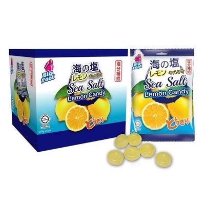 (漾霓)-代購~2盒優惠 BigFoot 海鹽檸檬糖 每盒150公克x6 包- 121207 (代購商品 下標詢問現貨)