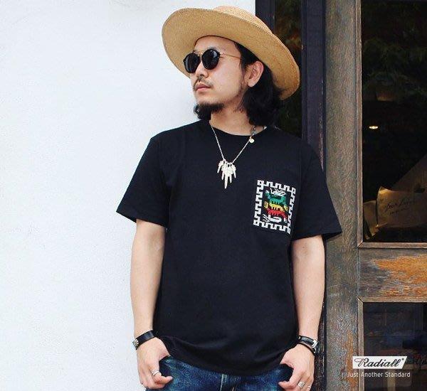 GOODFORIT/ 日本 Radiall COSMIC GIPSY 瓜地馬拉民族雷鬼刺繡口袋短袖上衣/兩色