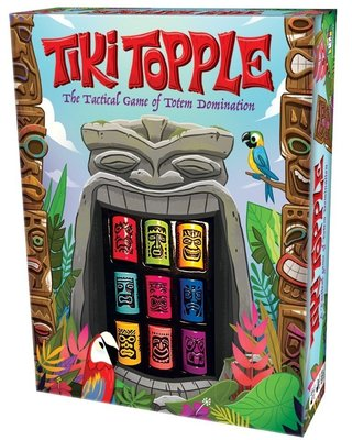 【正版桌遊。送牌套】推倒提基-大盒新版 Tiki Topple《英文大盒版》