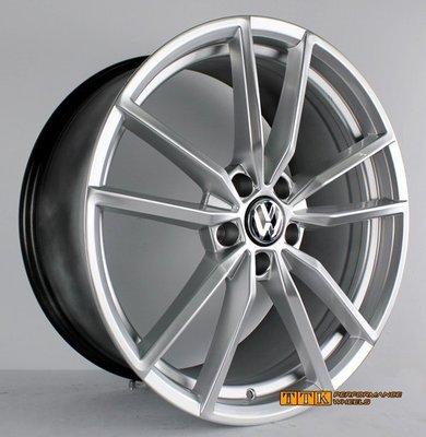 【員林 小茵 輪胎 舘】VW 原廠類 GOLF R19吋 鋁圈 5X112 8.5J ET45 高亮銀