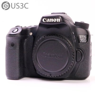 【US3C-台中店】公司貨 Canon 70D Body 單機身 中階單眼 2020萬畫素 WiFi 快門11567次 二手相機 台中市