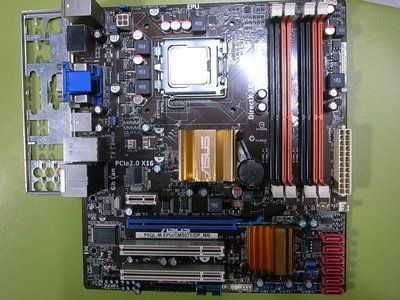 高雄路竹---P5QL-M EPU/CM5571/DP_MB含檔板 加 E8500 3.16 GHz (775腳位)