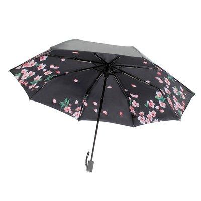遮陽傘banana遮太陽傘雙層焦防曬防紫外線小黑膠傘下女晴雨傘兩用upf50+