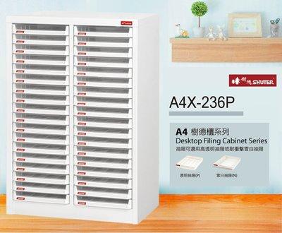 【樹德收納系列】落地型資料櫃 A4X-236P  (檔案櫃/文件櫃/收納櫃/效率櫃)