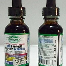 5瓶優惠免運,加拿大 ORGANIKA Bee Propolis 30ml無酒精蜂膠;有效期2020/01