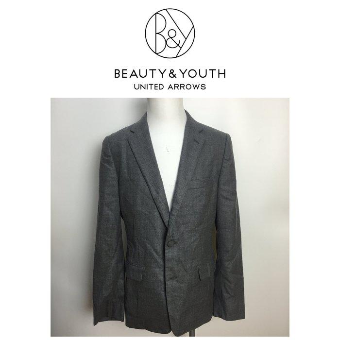 【皮老闆二店】樂1737 二手真品 BEAUTY&YOUTH 西裝外套 羊毛西裝