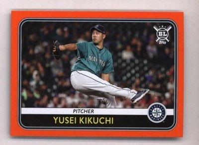 橘邊特卡 日本 菊池雄星 2020 Topps Big League Orange #16 Yusei Kikuchi