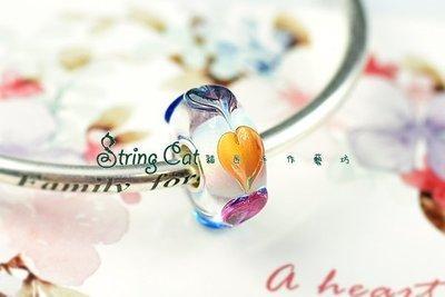 ~String Cat~~Endless Love~925純銀潘朵拉風琉璃珠 愛心串珠 Charms beads