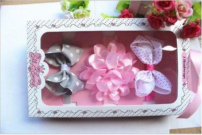 ☆草莓花園☆女童髮帶 時尚可愛花朵蝴蝶結頭飾 百搭款 花色組合20  附精美外盒