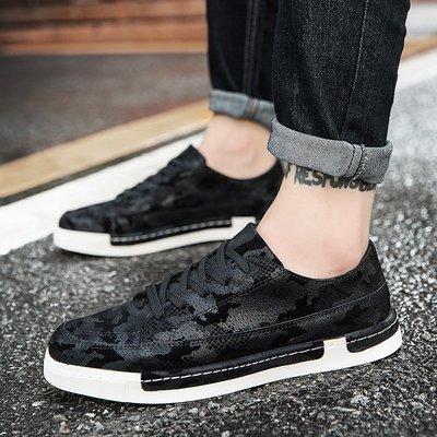 秋季新款男鞋子韓版潮流休閑鞋學生黑色板鞋增高鞋青年低幫運動鞋