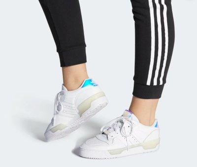 =E.P=ADIDAS RIVALRY LOW W 復古 運動鞋 慢跑鞋 白鏡面 仙度瑞拉  EE5935
