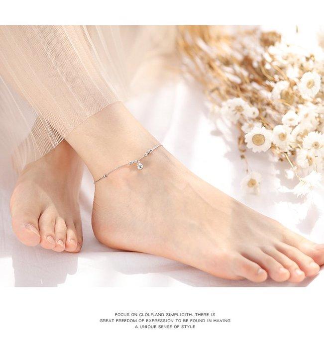 銀珠鈴鐺腳鏈 日韓簡約性感腳環 甜美百搭設計款_☆找好物FINDGOODS☆
