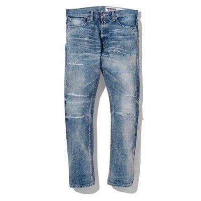 【STRIPES】19SS Neighborhood CLAW SAVAGE . DP NARROW 深窄 牛王破壞牛仔褲 淺藍丹寧長褲 14盎司單寧布 日本製