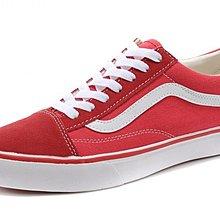 D-BOX  vans OLD Skool 板鞋 經典 復古 帆布鞋 低筒 紅白條 情侶款