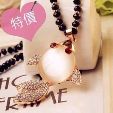 東大門平價鋪 長款日韓新品簡約氣質百搭豹紋橢圓項鍊,裝飾配飾女飾品