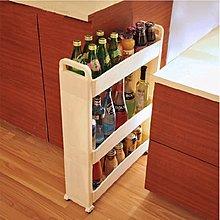 5Cgo 【批發】含稅會員有優惠 19523546685 廚房夾縫儲物架置物架 移動收納架冰箱側邊多功能塑料角架