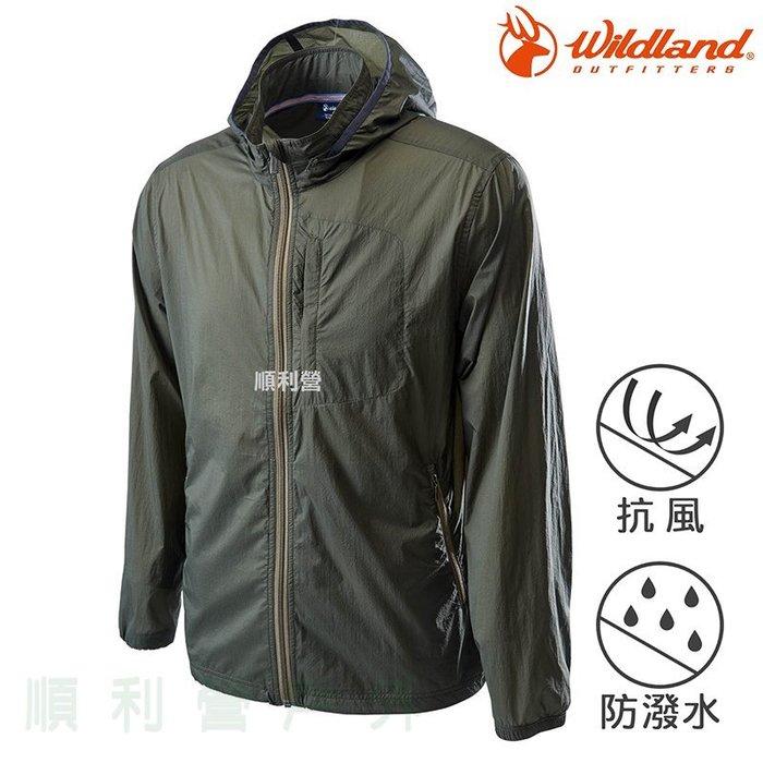 荒野WILDLAND 男款15D超輕低防水高透氣外套 0A62910 橄欖綠 排汗外套 薄外套 OUTDOOR NICE