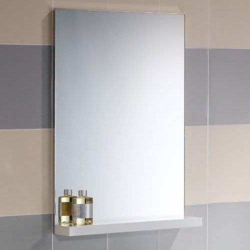 《101衛浴精品》Corins 柯林斯 45CM 鋁封邊明鏡 白色鋼琴烤漆平檯 DJ-45M 尺寸可訂製 【免運費】