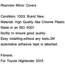 Toyota Highlander 2015 ABS電鍍照後鏡外蓋-極限超快感