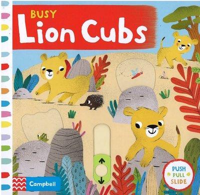 *小貝比的家*BUSY LION CUBS/硬頁操作書/0~2歲
