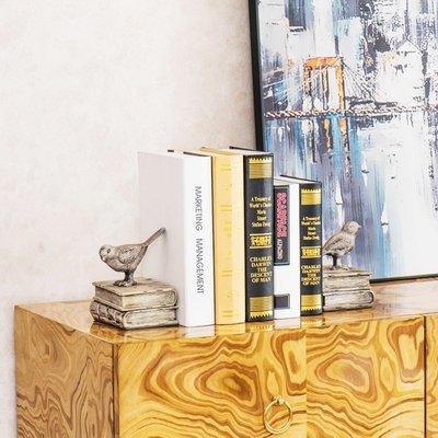 〖洋碼頭〗美式鄉村現代裝飾品書房書櫃小鳥書立書靠擺件創意簡約書檔 sme155
