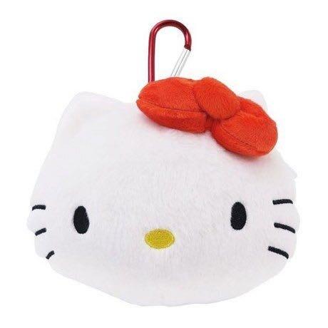 Hello Kitty 丶美樂蒂大臉造型絨毛票卡零錢包