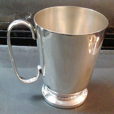 236 高級英格蘭鍍銀杯 Plated (worn) Tankard, Engraved JLB,