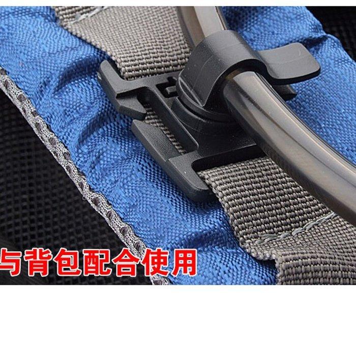 登山背包 水袋 水管夾 可調水袋夾360度可旋轉式 戶外背包配件飲水袋管夾子