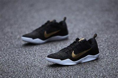 Nike Kobe 11 ELITE GCR 885869-070黑金白編織Bryant黑曼巴道限定XI桂冠24星FTB