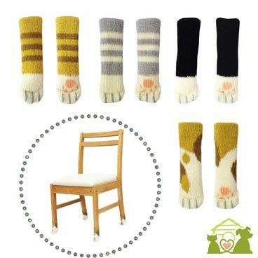 24個貓咪肉球椅子腳套雙層加厚針織桌椅腿套凳子腳套SMB25077