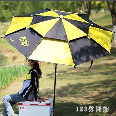 釣魚傘 休閒時尚2.2米雙層 遮雨防風釣萬向折疊漁具垂釣用品LB19087【全館免運】