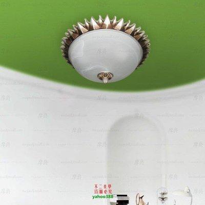 【美學】設計師燈具歐式陽臺過道兒童房燈臥室客廳美式復古羅馬太陽吸頂燈MX_1742