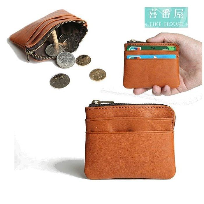 【喜番屋】真皮頭層牛皮便攜男女通用卡片包卡片夾卡包卡夾皮夾皮包錢夾零錢包小錢包男夾女夾【LH474】