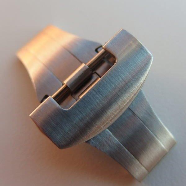 【錶帶家】代用Panerai 沛納海 22mm 20mm 不鏽鋼雙向按鈕 摺疊式帶扣雙折扣