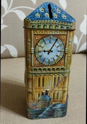 大英帝國百年名店限量 Churchill's Confectionery Plc彼得潘童話故事限量版金屬材質存錢筒