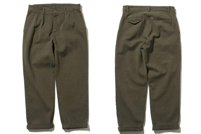 { POISON } DeMarcoLab BIG DADDY OVERDYED CHINO 仿舊後染加工 打褶寬版褲
