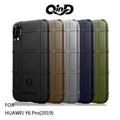 *phone寶*QinD HUAWEI Y6 Pro(2019) 戰術護盾保護套 背殼 軟殼 TPU套 手機殼 保護殼