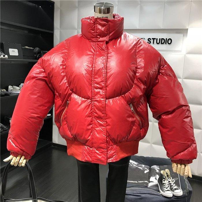 薄外套 外套 衛衣 開衫外套 毛衣高領加厚保暖學生面包服外套冬季新品百搭純色拉鏈長袖棉服女